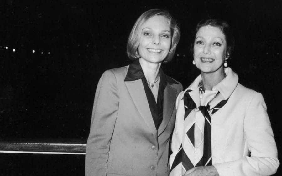 American actress Judy Lewis and her actress mother Loretta Young
