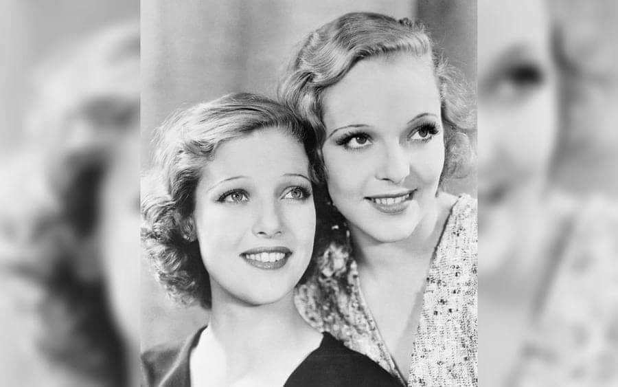 Loretta Young and Her Sister Sally Blane