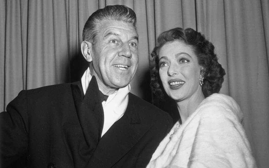 American actress Loretta Young with her husband Tom Lewis.