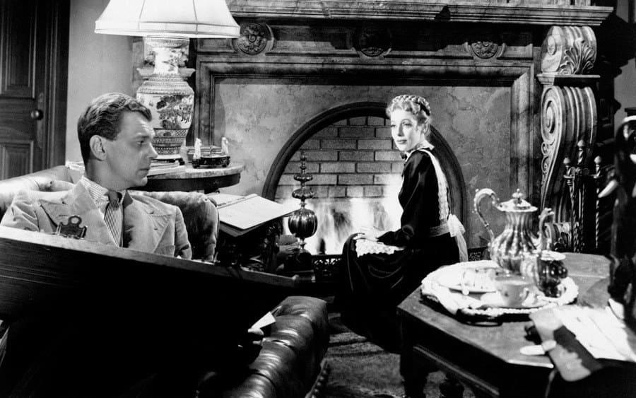 Loretta Young and Joseph Cotten in The Farmer's Daughter