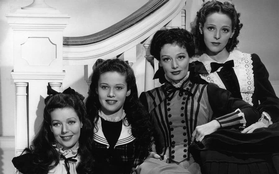 Loretta Young, Polly Ann Young, Gergianna Young and Sally Blaine.