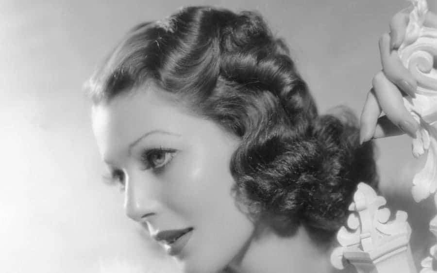 American actress Loretta Young on the set of Wife, Doctor and Nurse