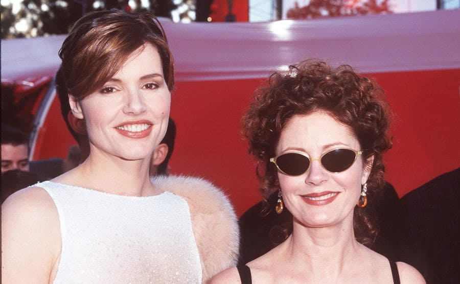 Geena Davis and Susan Sarandon on the red carpet
