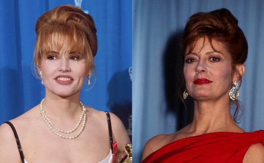 Geena Davis at the 1992 Academy Awards / Susan Sarandon at the 1992 Academy Awards