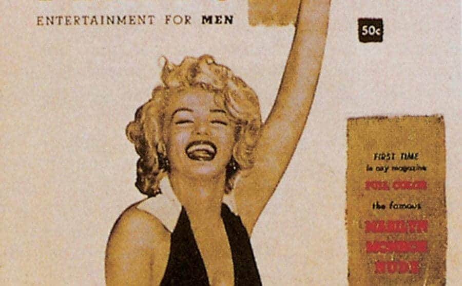 Marilyn Monroe on the cover of the first issue of Play-Boy magazine.