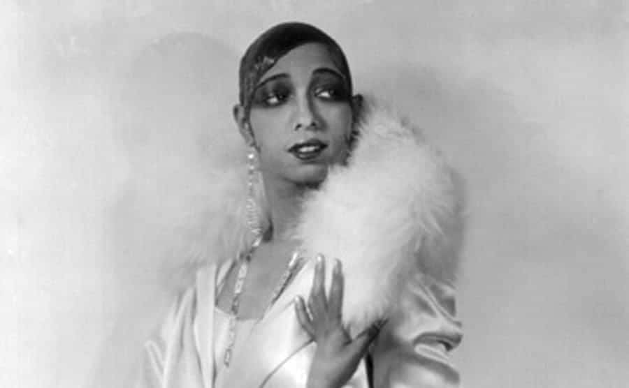 Josephine Baker is posing for a photo.