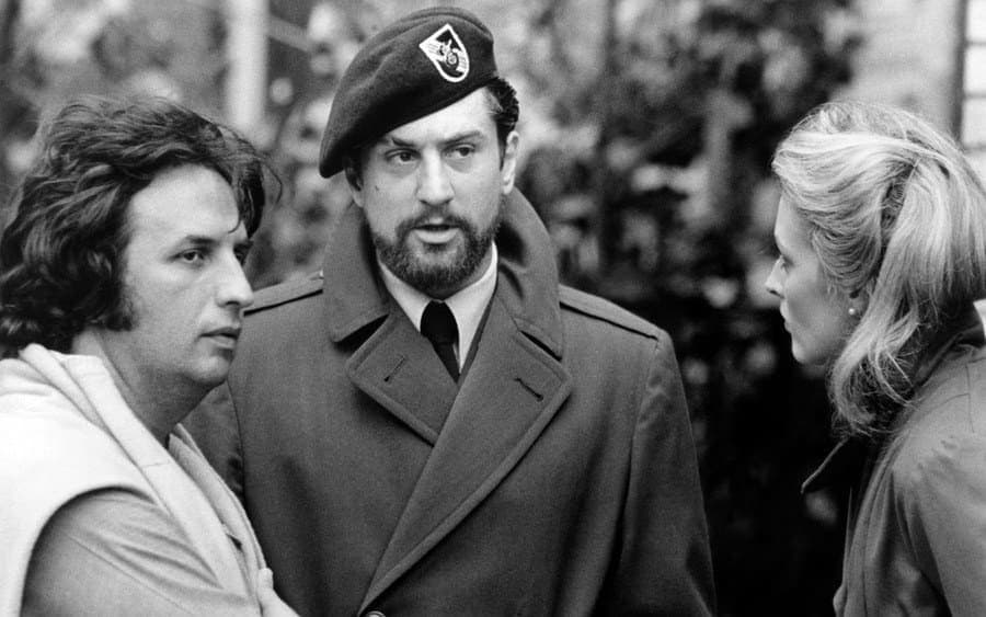Robert De Niro with Michael Cimino on the set of The Deer Hunter.