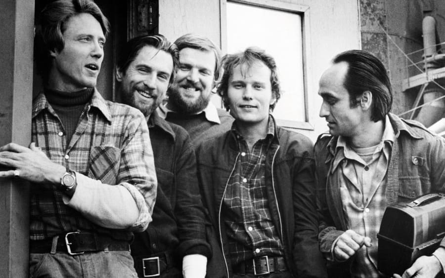 The male cast of The Deer Hunter
