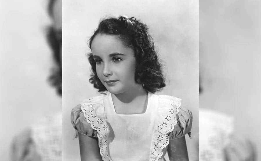 Elizabeth Taylor as a young child actress