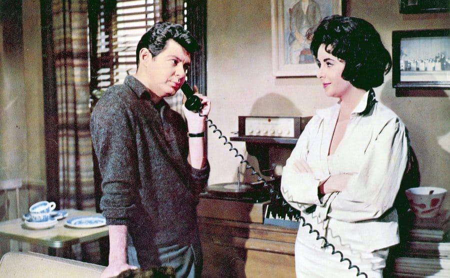 Elizabeth Taylor and Eddie Fisher in 'Butterfield 8'