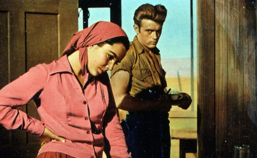 James Dean and Elizabeth Taylor in 'Giant,' 1955