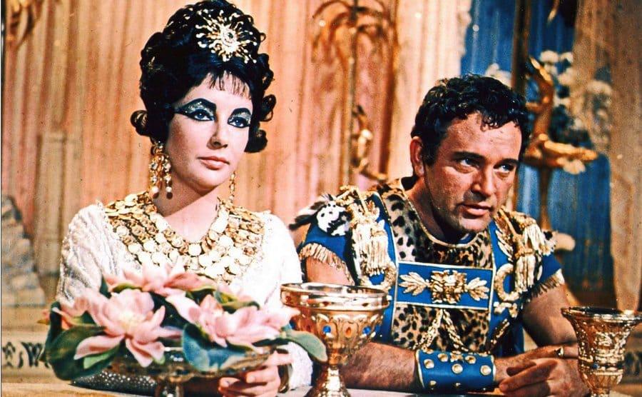 Elizabeth Taylor and Richard Burton in 'Cleopatra,' 1963.