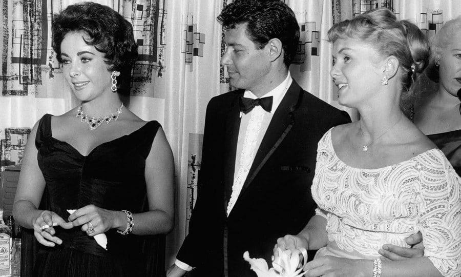 Elizabeth Taylor, Eddi Fisher, and Debbie Reynolds in 1958
