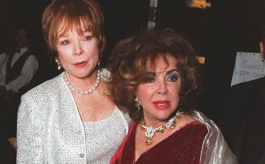 Shirley MacLaine and Elizabeth Taylor in October 2000.