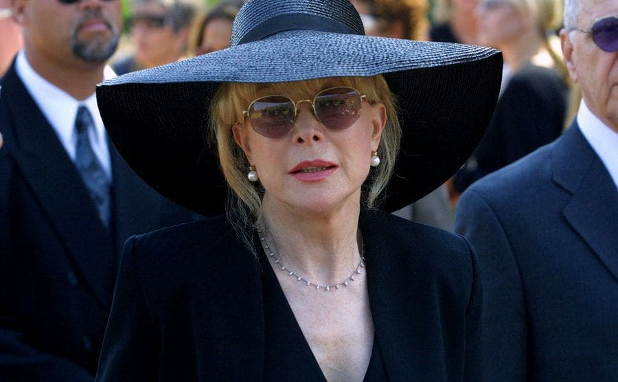 Barbara Eden attends the funeral for her son.