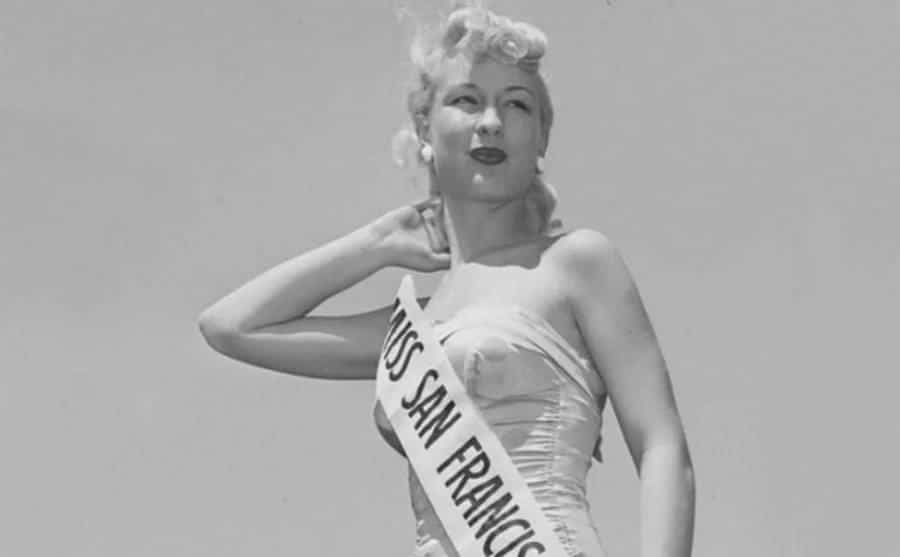 Barbara Eden's Miss California portrait.