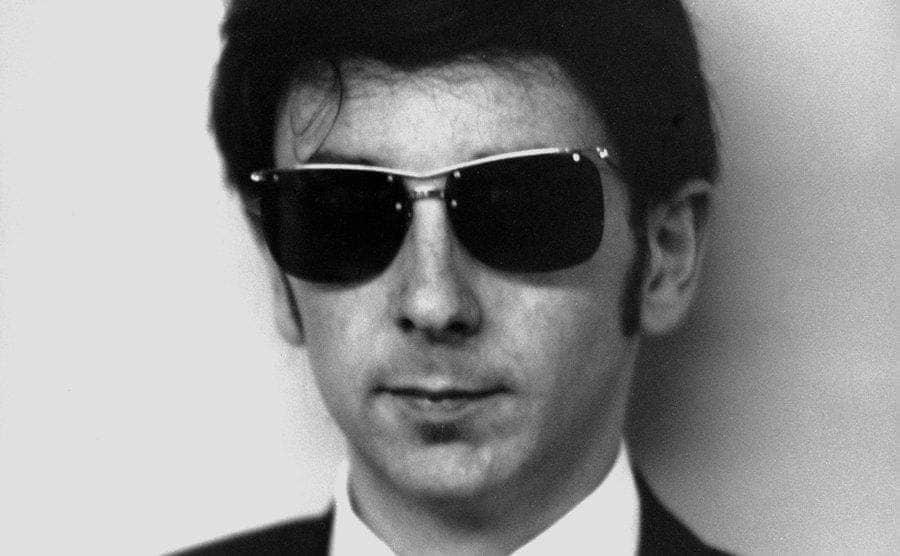 Phil Spector's studio portrait.