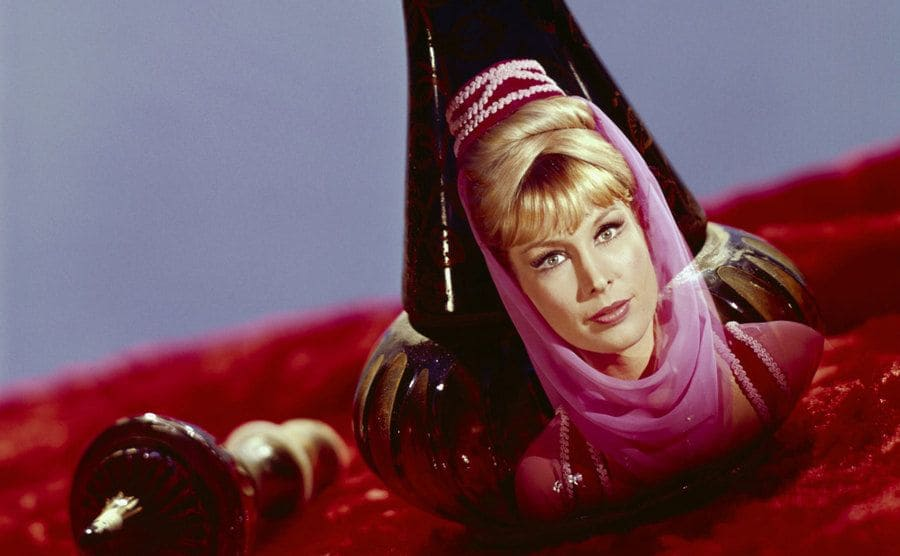 Jeannie's face in Jeannie's Bottle.