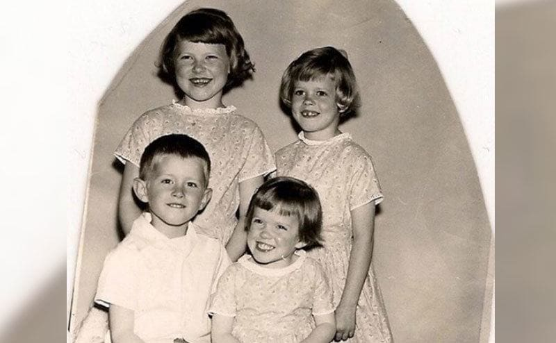 A portrait of Ann Marie and her siblings.