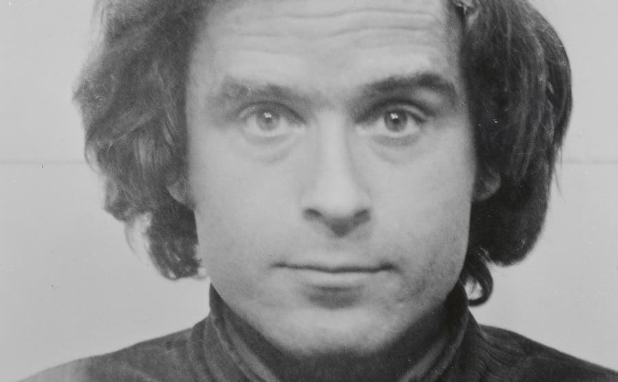 A portrait of Ted Bundy.