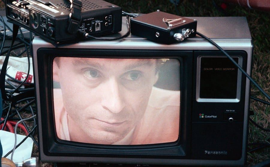 Ted Bundy's image on television.