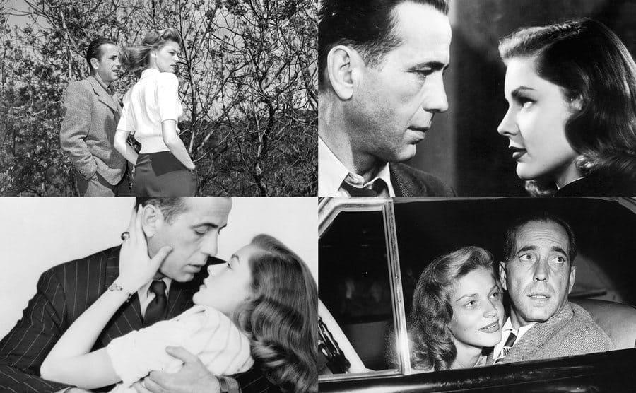 Humphrey Bogart, Lauren Bacall / Humphrey Bogart, Lauren Bacall / Humphrey Bogart, Lauren Bacall / Lauren Bacall, Humphrey Bogart.