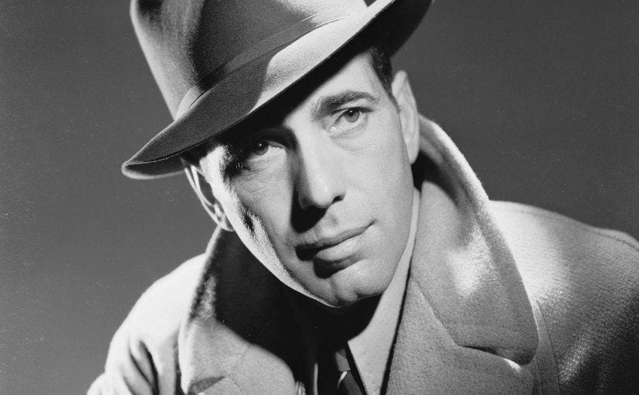 A portrait of Humphrey Bogart.