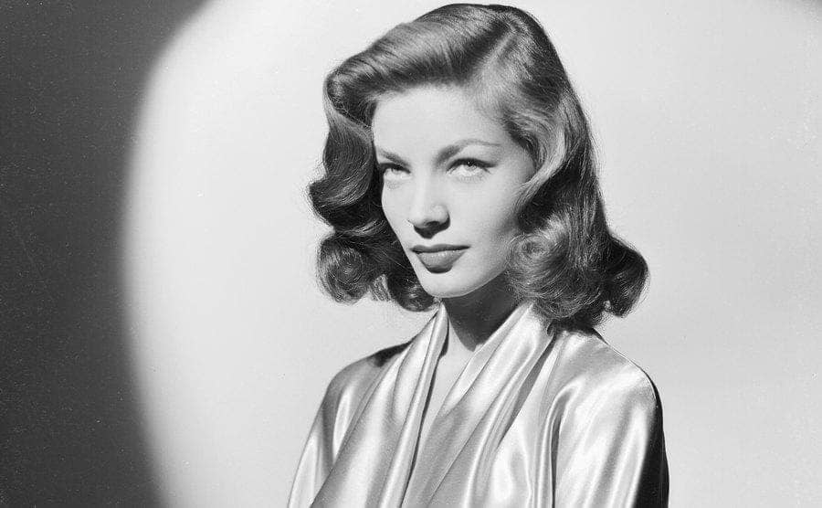 A portrait of Lauren Bacall.