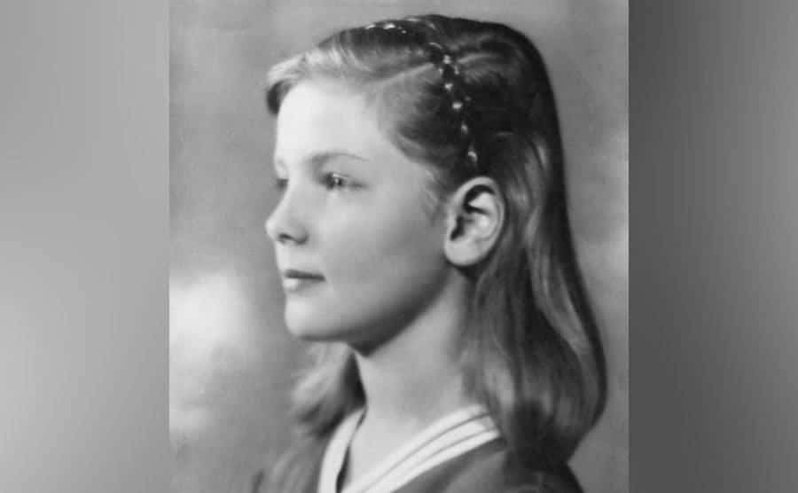 Lauren Bacall as a young child.