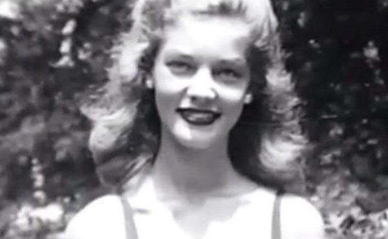 A portrait of Lauren Bacall in her teens.