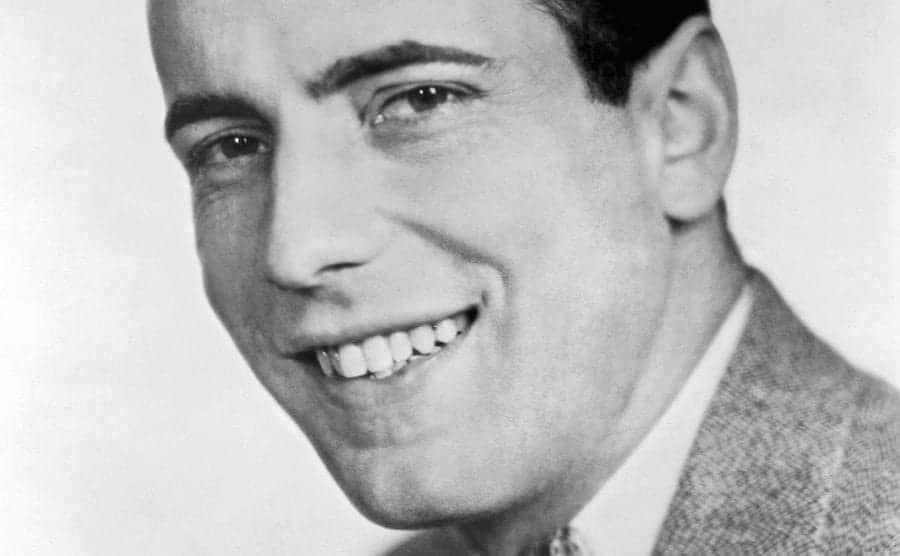 A portrait of young actor Humphrey Bogart.