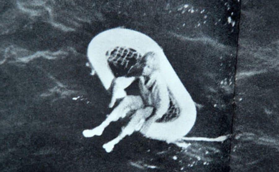 Terry Jo Duperrault adrift.