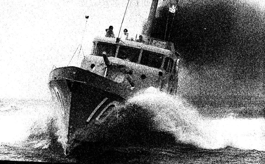 An illustration of a boat about to explode.