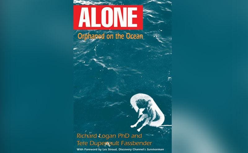 Titled 'Alone: Orphaned on the Ocean' Terry Jo appears on a magazine cover.