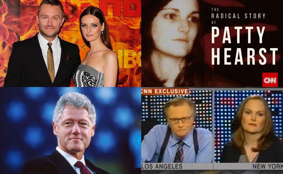 Chris Hardwick, Lydia Hearst / Patty Hearst / Bill Clinton / Larry King, Patty Hearst.