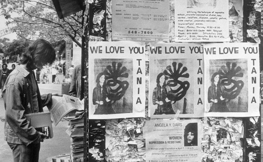 Posters read ''We Love You Tania'' on the bulletin boards at University.