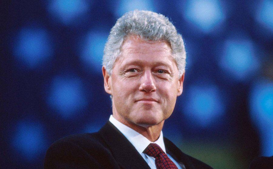 A portrait of Bill Clinton.