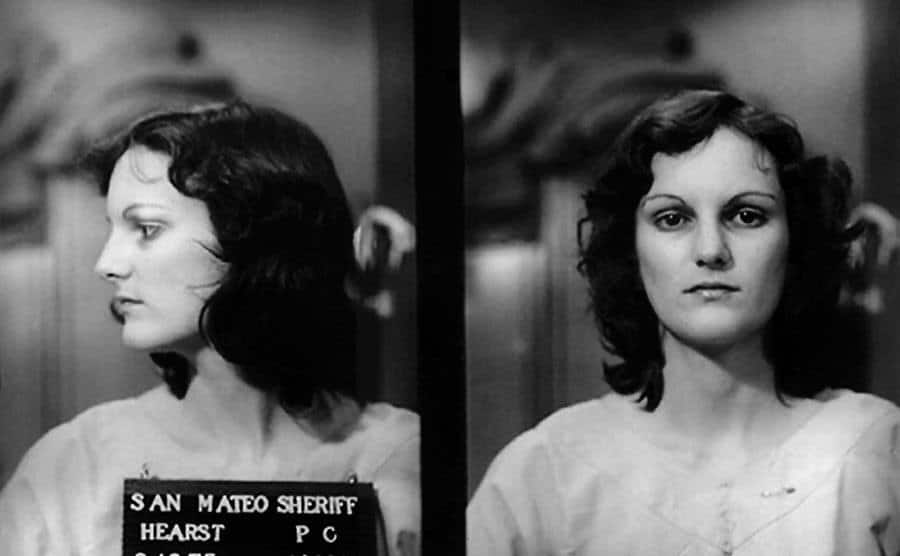 A picture of Bernard Lee Shaw and Patty Hearst.