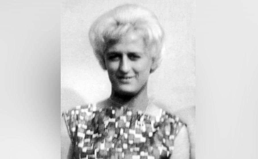 A portrait of Myra Hindley.