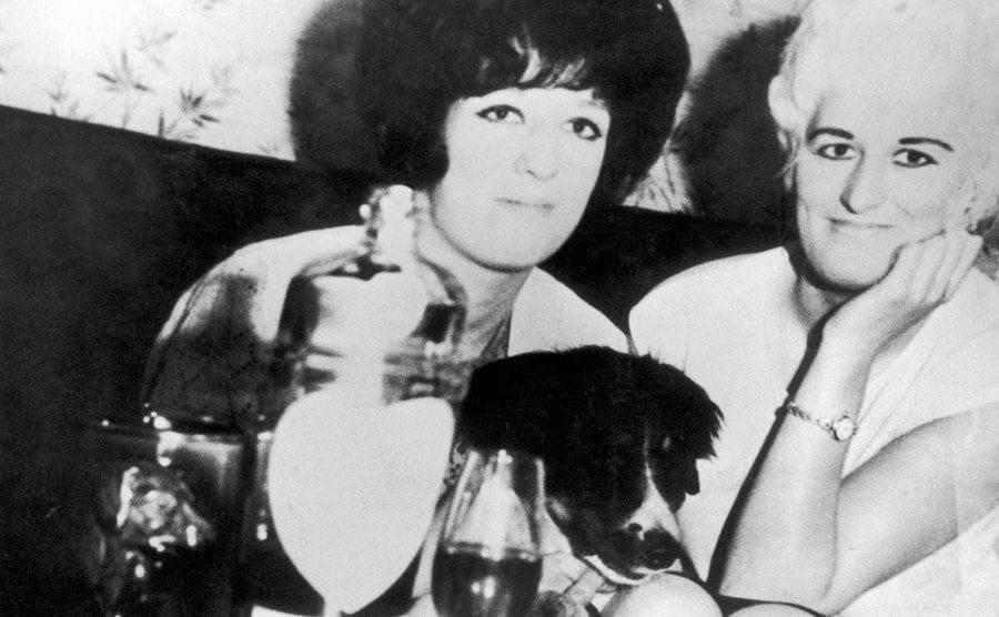 Myra Hindley with her sister Maureen.