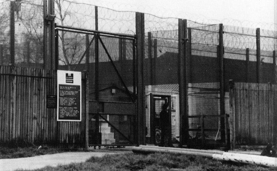 The exterior of the prison where Myra Hindley serves her time.