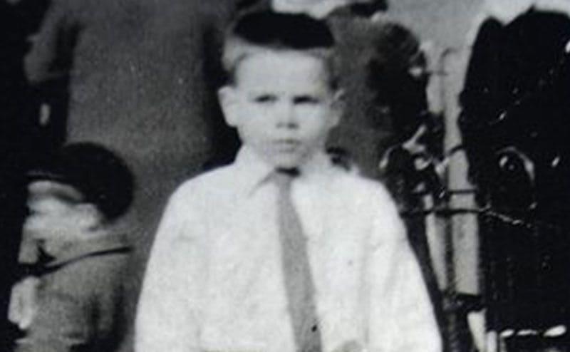A portrait of Timothy Rhattigan as a child.