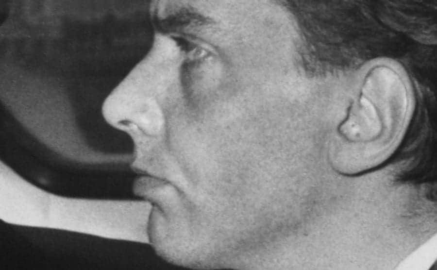 A close-up on Ian Brady's expression.