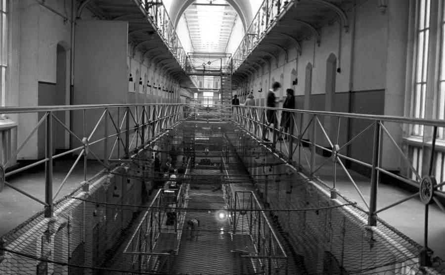 Interior view of Holloway Women's prison.
