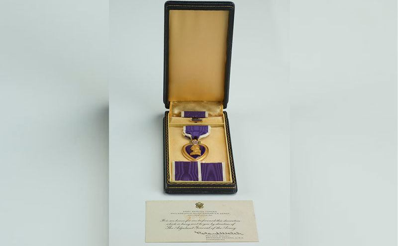 The Purple Heart for Vernon German's actions at the Battle.