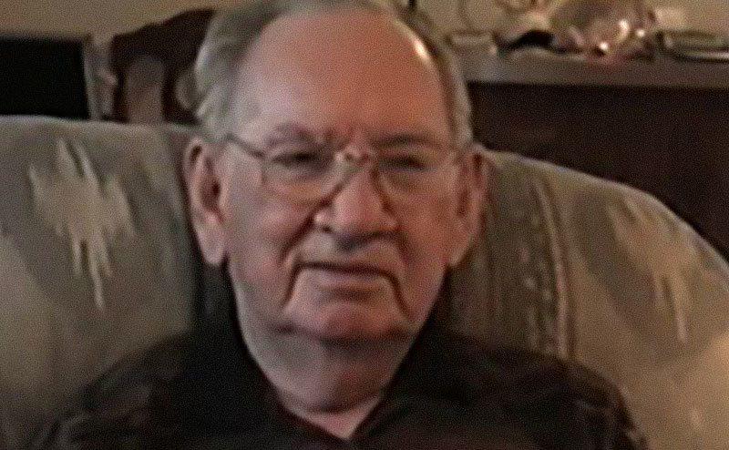A portrait of Verland ''Jerry'' Devon at his home.
