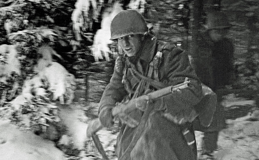 A soldier during the Battle.