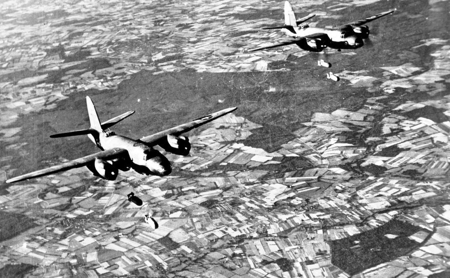 The Air Force during the Battle.