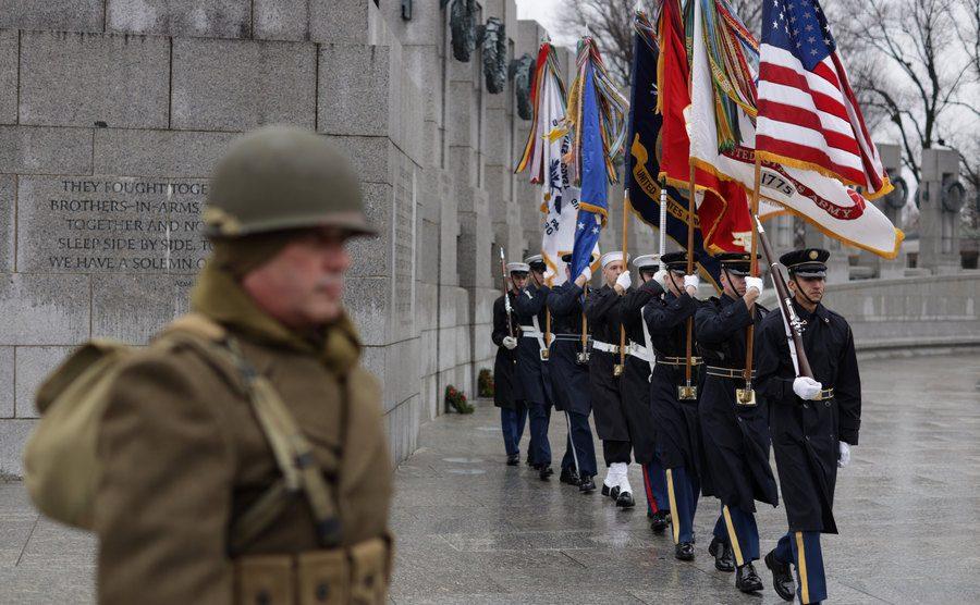 National World War II Memorial Marks.
