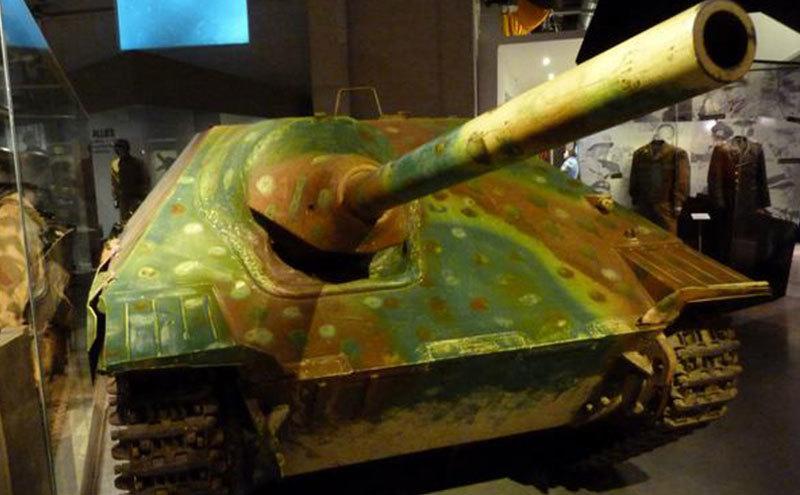 A German tank inside the museum.